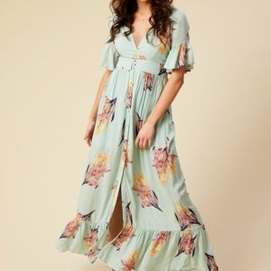 Altar'd State Paradise maxi dress floral new NWT